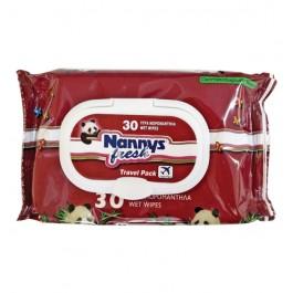 Μωρομάντηλα Nannys συσκευασία 30 τεμάχια